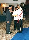 "Received Sabah State's award after ""Walkers of Borneo"" Expedition 1998"